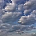 Cloudy sky, blue spring