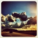 Sonne auf der Autobahn