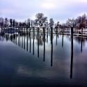 Winter Marina Reflections