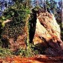 Close and separate - big rock cut in half