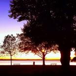 Uferpromenade, Abend