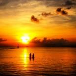 Sunset at Srithanu Beach
