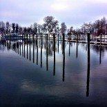 Winter Marina Reflections