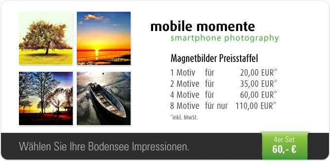 mobile momente - smartphone photography- 4er Set